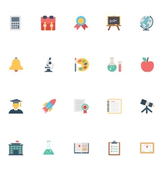 Flat education icons 2 vector