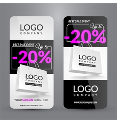 Set with banners for big sale event vector