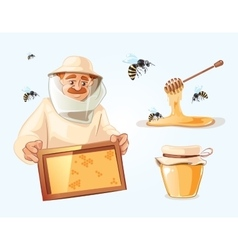 Apiary vector image