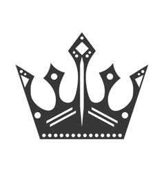 Crown with diamonds royalty design vector