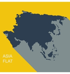 asia Flat style vector image vector image