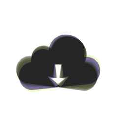 Cloud technology sign colorful icon vector