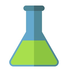 Conical chemical flask isolated vector image