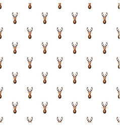 Deer head pattern vector