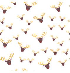 deer head seamless pattern wallpaper design vector image