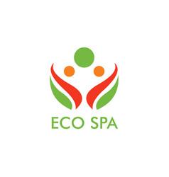 eco spa logo vector image