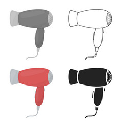 hair dryer icon in cartoon style isolated on white vector image