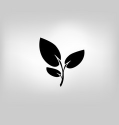 icon leaf symbol vector image