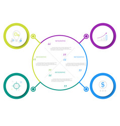 Infographic workflow layout diagram vector