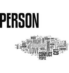 Is this the right person for me text background vector