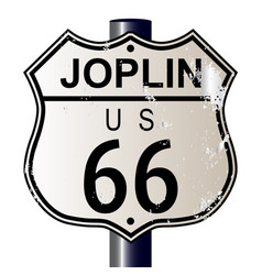 joplin route 66 sign vector image vector image