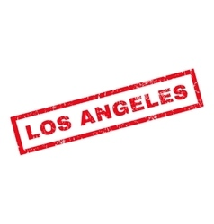 Los angeles rubber stamp vector