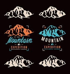 Mountain expedition labels vector