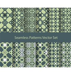 oriental seamless patterns vector image vector image