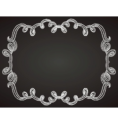 Ornamental frame on chalkboard vector