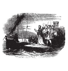 Paul sails to rome as a prisoner vintage vector