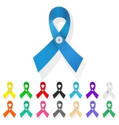 Ribbon awareness vector