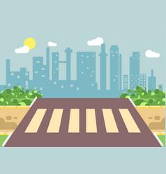 Roadside cartoon landscape vector