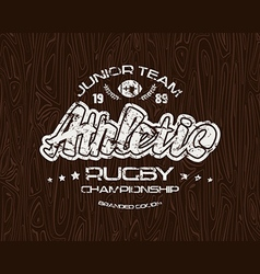 Rugby emblem with shabby vector