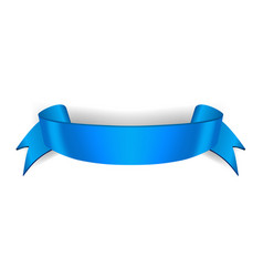 satin empty ribbon banner vector image vector image