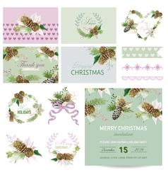 Scrapbook design elements - christmas theme vector