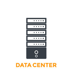 Server data center icon vector