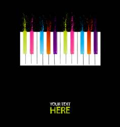 spectrum piano keys vector image vector image