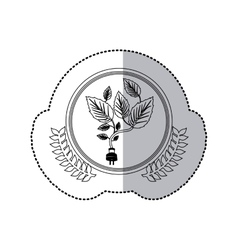 Sticker monochrome with half shadow and creeper vector