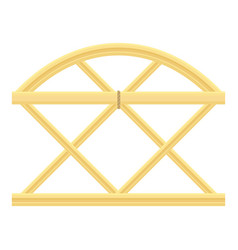 Trellis fence icon cartoon style vector