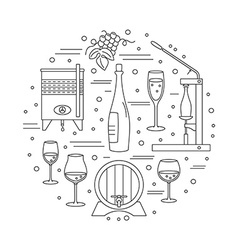 Winemaking wine tasting graphic design concept vector