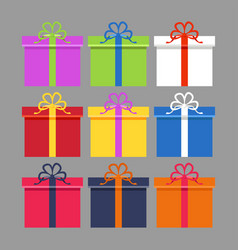 wrapped colorful gift vector image