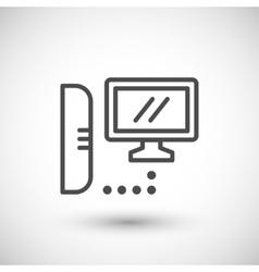 Computer communication line icon vector