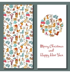 Christmas card cozy xmas greetings vector