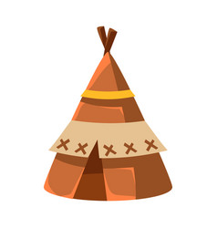 Wigwam leather living hut native american indian vector