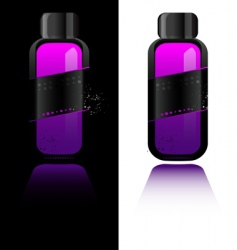 Perfume bottle with deodorant vector