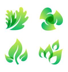 Green leaf eco design friendly nature elegance vector