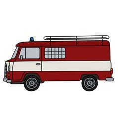 Old fire patrol minivan vector