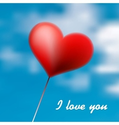 Love heart balloon in blue sky  eps10 vector