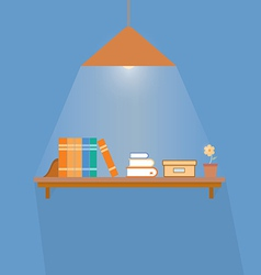 Simple book shelf vector