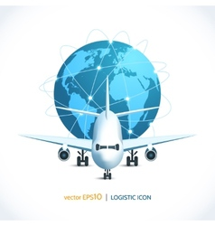 Logistic icon airplane vector