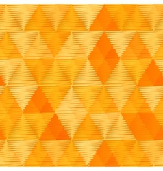 Orange vintage textile triangles seamless pattern vector