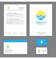 Corporate identity template tourism vector