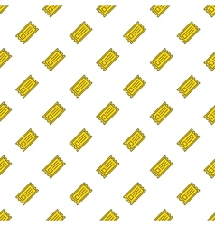 Yellow cinema tickets seamless pattern vector