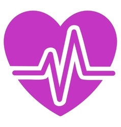Heart diagram icon vector