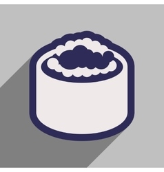 Flat with shadow icon sushi with caviar vector
