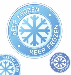 keep frozen food label vector image