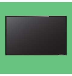 LCD monitor in vector image