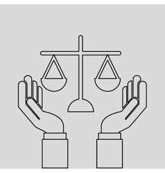 Justice system concept design vector