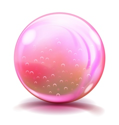 Big pink glass sphere vector