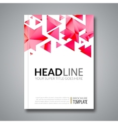 Cover report colorful triangle geometric vector